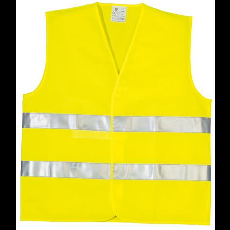 gilet r/éfl/échissant de Gilet de s/écurit/é anti-transpiration respirant en fibre de polyester Fluorescent Yellow-M Code