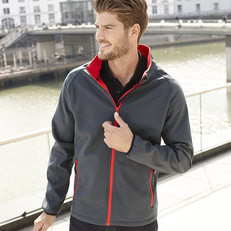 Mens Promo Softshell Jacket-JAMES NICHOLSON
